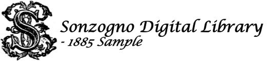 Sonzogno Digital Catalog - 1885 Sample